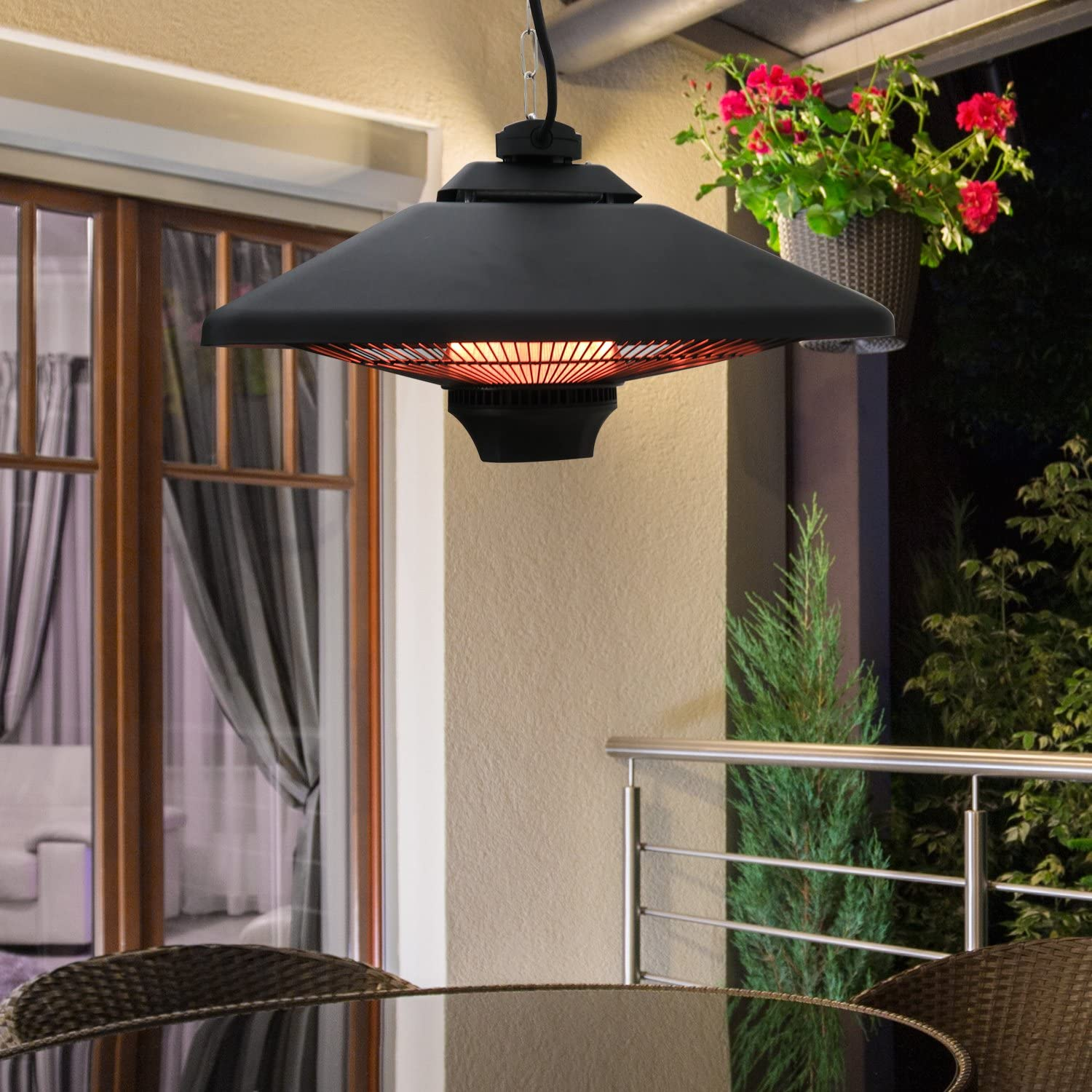 outsunny 2000w ceiling mounted patio heater 3