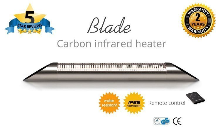 Veito Blade S2500 2.5kW Electrical Waterproof Wall Mounted Patio Heater
