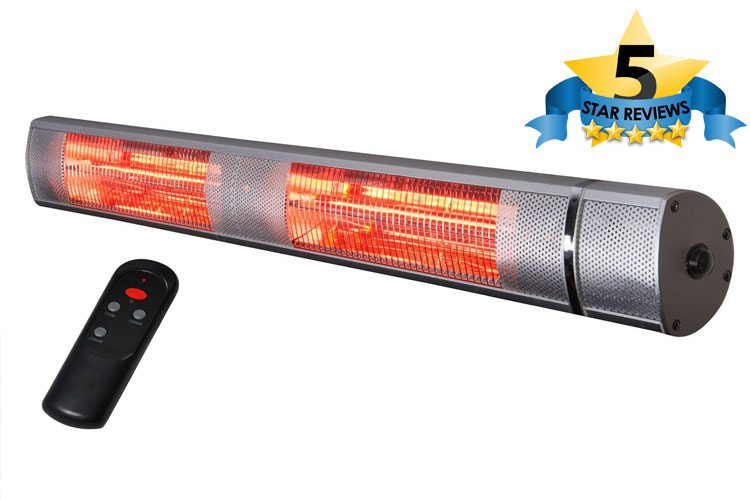 Futura Deluxe 2.5kW Wall Mounted Electric Patio Heater