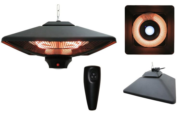 Outsunny 2kW Ceiling Mounted Weatherproof Electric Patio Heater