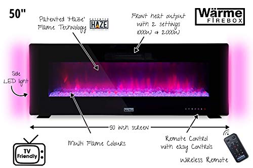 "Wärme Firebox Designer Electric Fireplace - 50"""