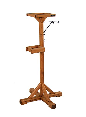 riverside woodcraft bird table feeding station with anti bacteria coating