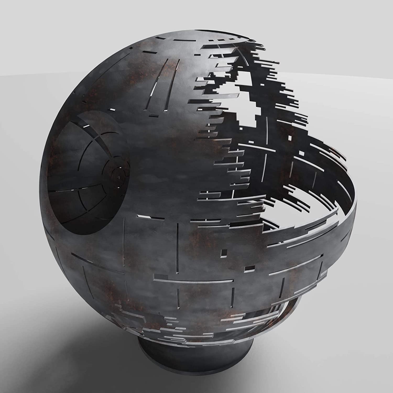 The Death Star Ceramic or Raw Steel FIre Bowl