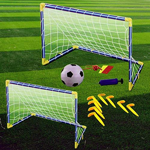 denny international kidschildren football goal post net ball with pump