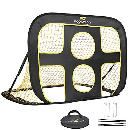 podiumax 2 in 1 pop up kids football goal indooroutdoor soccer target net