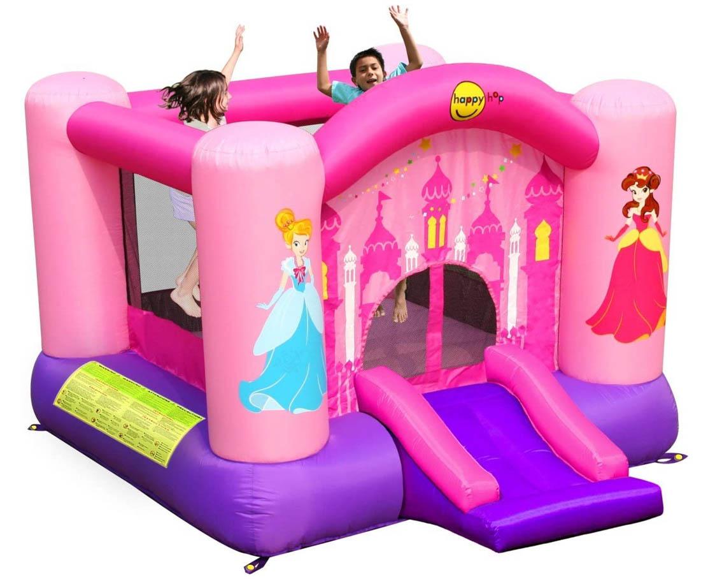 Happy Hop 9201P Princess Slide and Hoop Bouncer, Multicolour