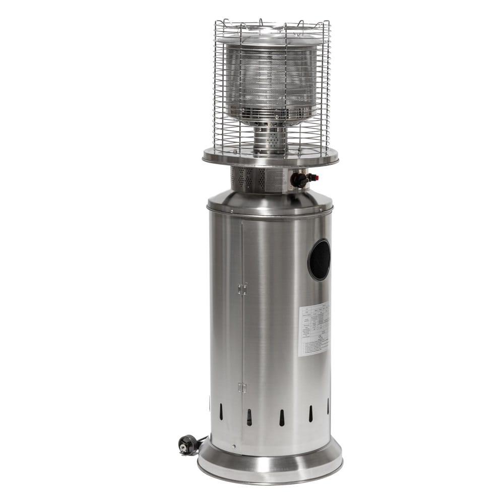 13kw bullet gas patio heater stainless steel by heatlab