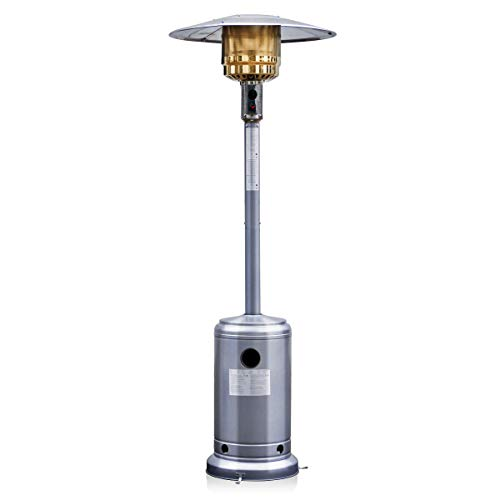 costway 13kw gas patio heater variable power control stainless steel 1