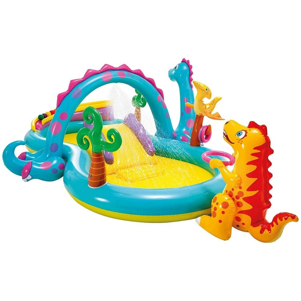Intext Dinoland Play Centre Paddling Pool with Slide 57135NP