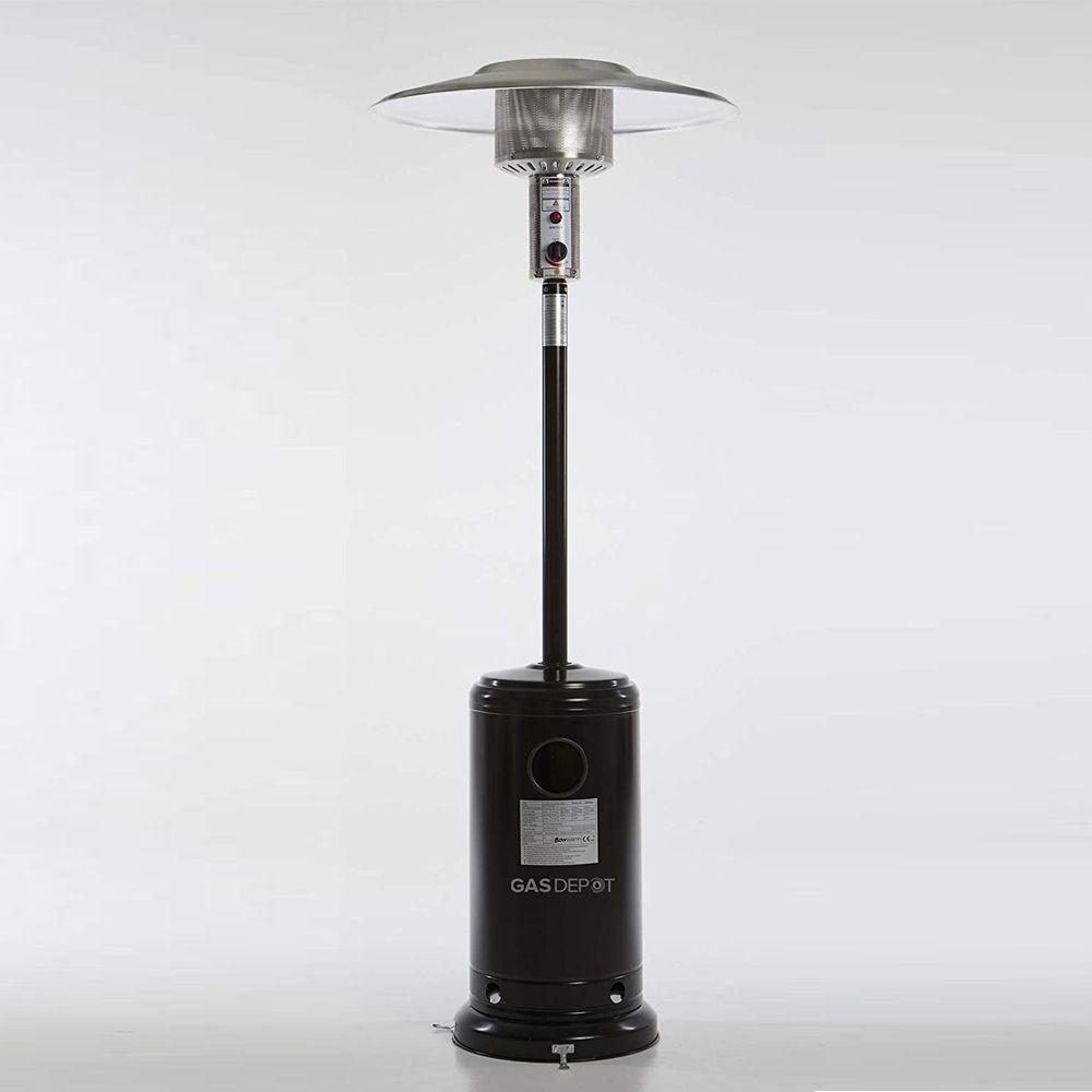 Glow Warm 13kW Black Powder Coated Gas Patio Heater